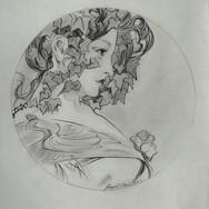 Alphonse Mucha study