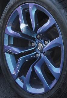 Spray Painted Wheel