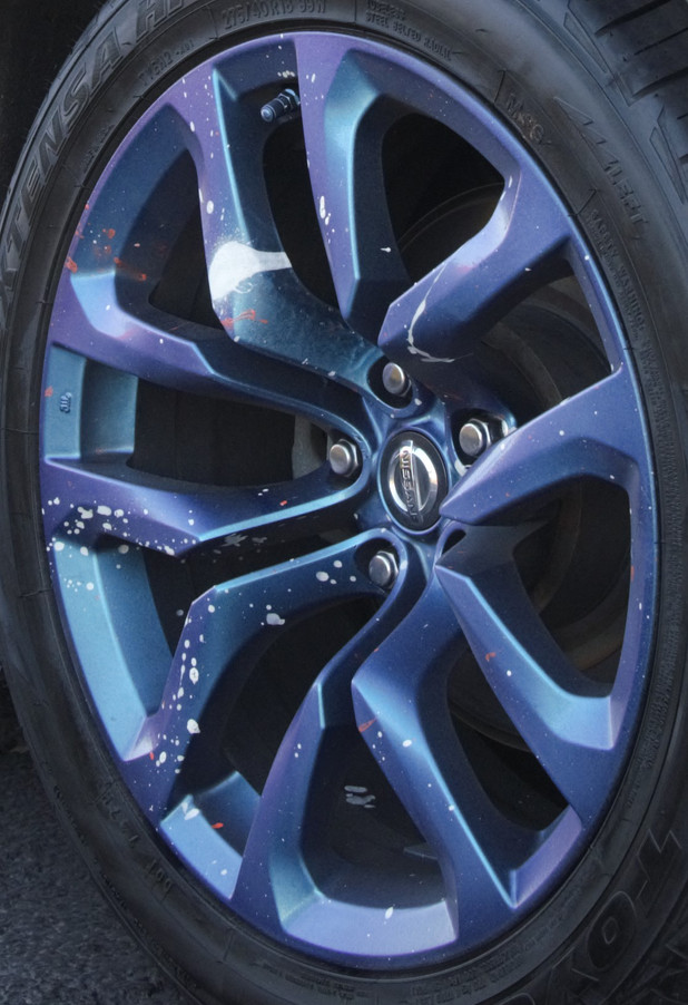 Spray Painted Wheel