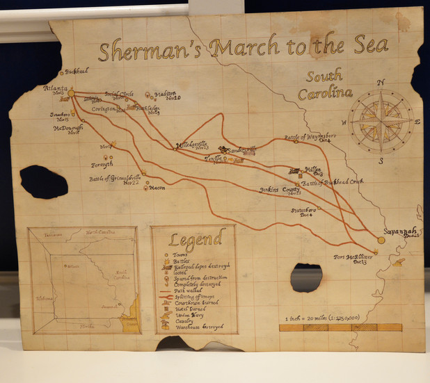 Handmade Map of Sherman's March
