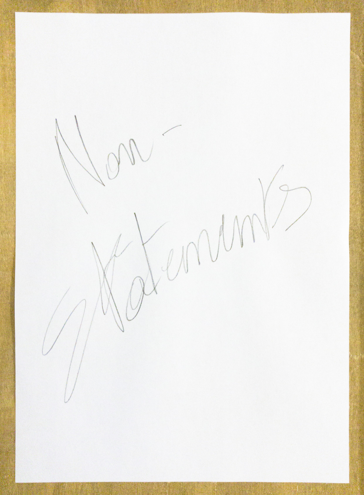 Non-statements - Title page