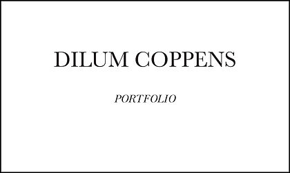 PORTFOLIO DILUM COPPENS - SEPT 2019 (BIG