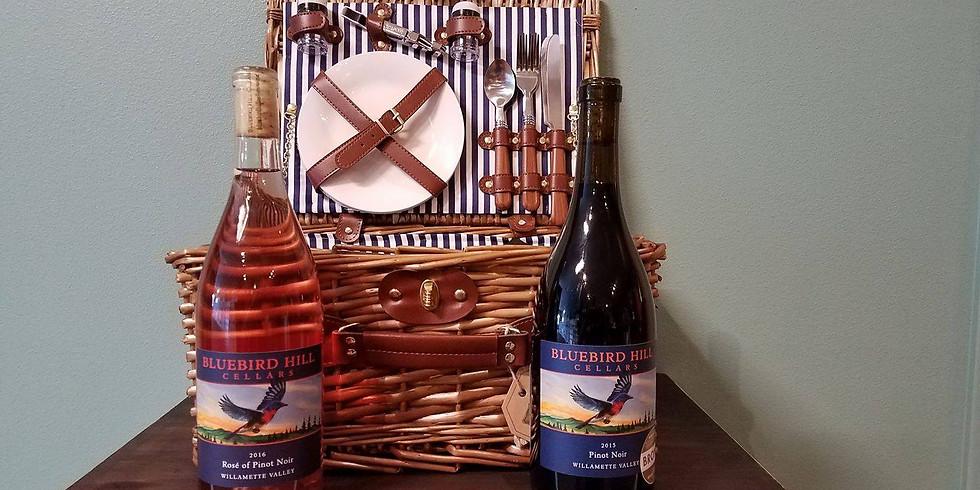 Bluebird Hill Wine tasting at Umpqua Wine Cellar