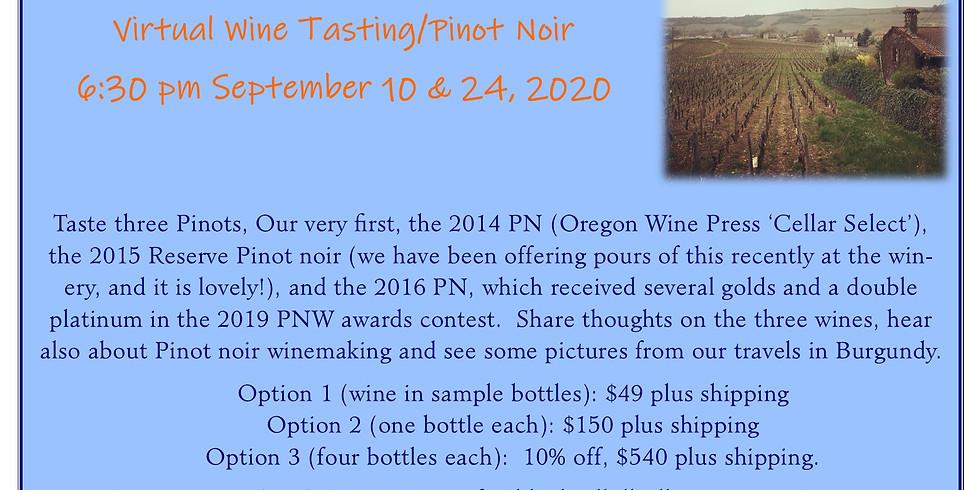 Virtual Wine Tasting/Pinot Noir