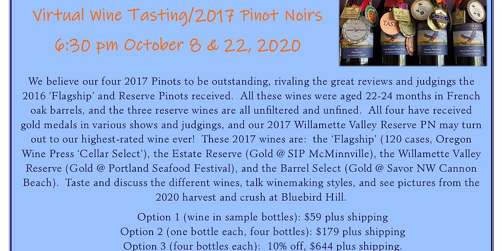 Virtual Wine Tasting/2017 Pinot Noirs