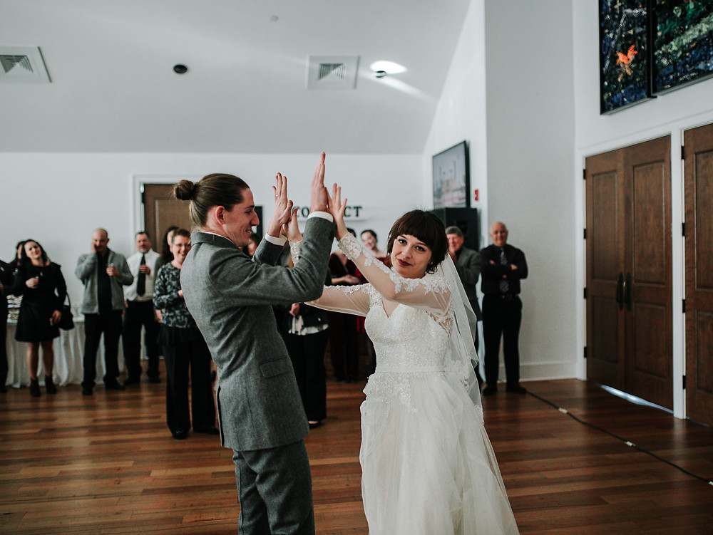 South Carolina Bride and Groom, first dance