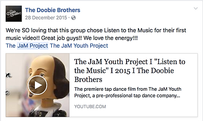 Doobie Brothers Endorse The JaM Youth Project tap dancefilm