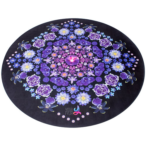 Flowermandala Round Yoga Mat
