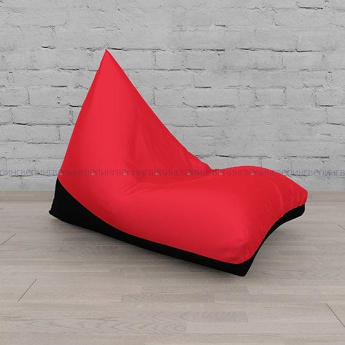 """Кресло-мешок Пирамида оксфорд """"Красный-чёрный"""""""