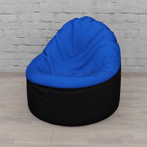 """Кресло-мешок Фирменное Тупокайф оксфорд """"Чёрно-синий"""""""