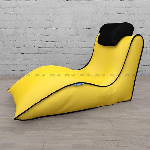 """Авторское кресло """"Balid"""" оксфорд """"Жёлтый-чёрный"""""""