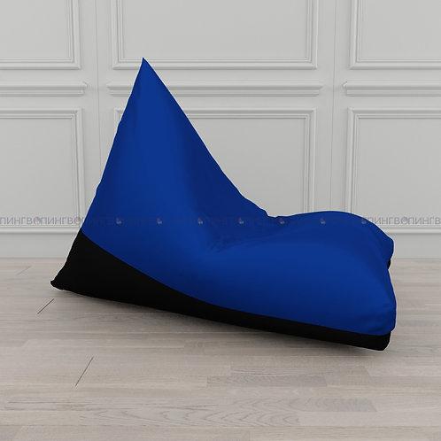 """Кресло-мешок Пирамида оксфорд """"Синий-чёрный"""""""