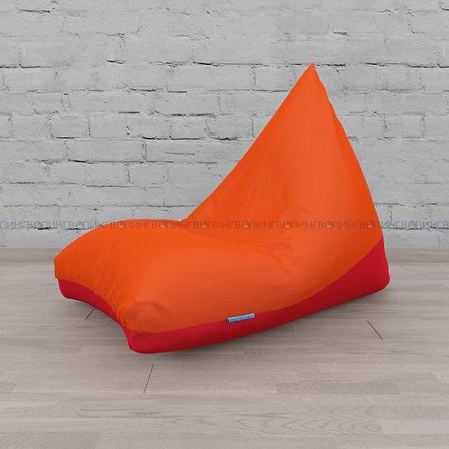 """Кресло-мешок Пирамида оксфорд """"Оранжевый-красный"""""""