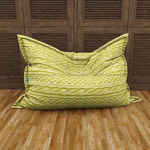 """Кресло-мешок Мат микровелюр """"Зелёные косы"""""""