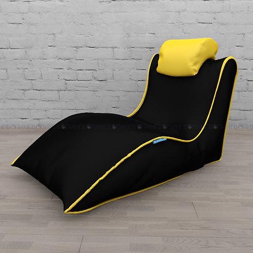"""Авторское кресло """"Balid"""" оксфорд """"Чёрный-жёлтый"""""""