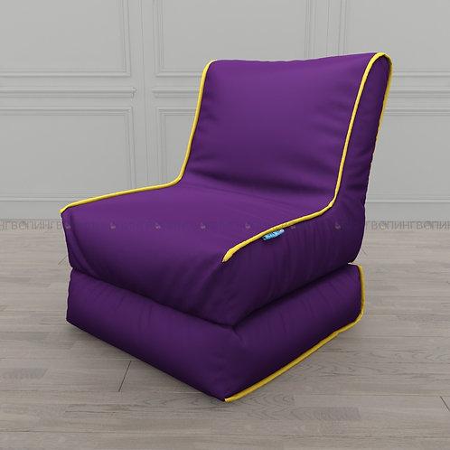 """Авторское кресло """"Le-Jack"""" оксфорд """"Фиолетовый-жёлтый"""""""