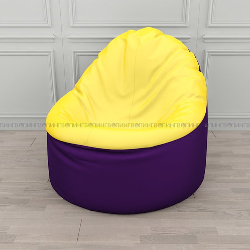 """Кресло-мешок Фирменное Тупокайф оксфорд """"Фиолетово-жёлтый"""""""