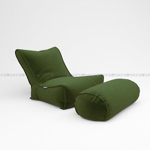 """Авторское кресло """"Tapchan"""" Велюр """"Зелёный"""""""
