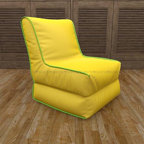 """Авторское кресло """"Le-Jack"""" оксфорд """"Жёлтый-салатовый"""""""