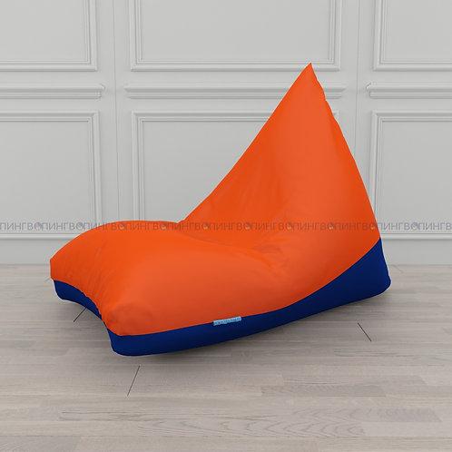 """Кресло-мешок Пирамида оксфорд """"Оранжевый-синий"""""""