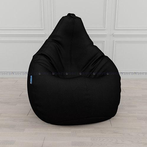 """Кресло-мешок Груша экокожа """"Чёрный"""""""