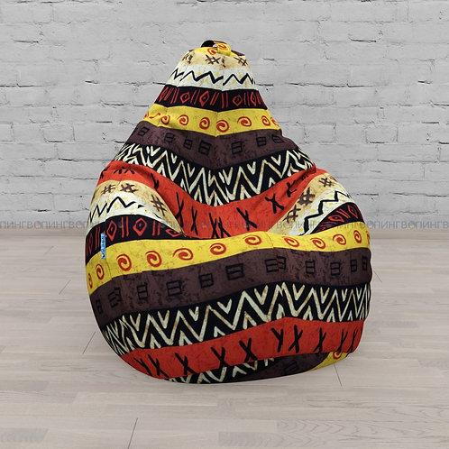 """Кресло-мешок Груша хлопковый жаккард """"Африка"""""""