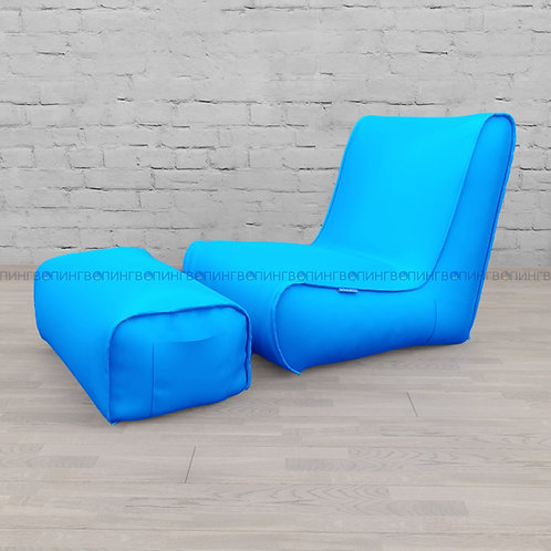 """Авторское кресло """"Tapchan"""" оксфорд """"Голубой"""""""