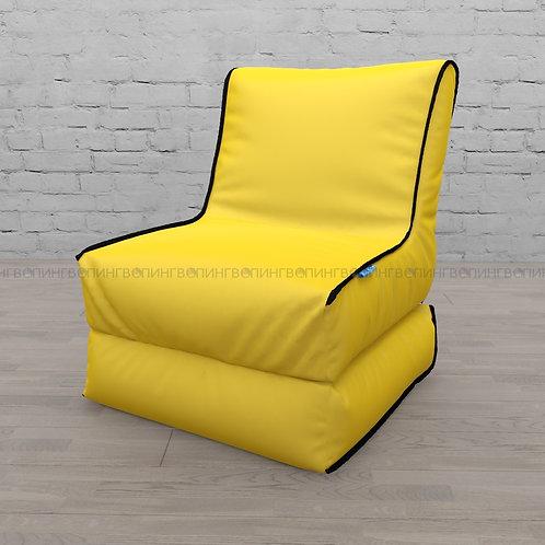 """Авторское кресло """"Le-Jack"""" оксфорд """"Жёлтый-чёрный"""""""