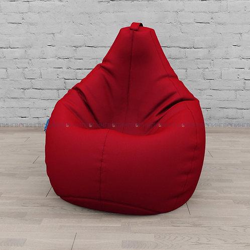 """Кресло-мешок Груша экокожа """"Красный"""""""