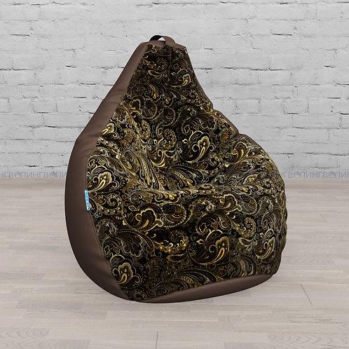 """Кресло-мешок Груша оксфорд-жаккард mix """"Шоколадная классика"""""""
