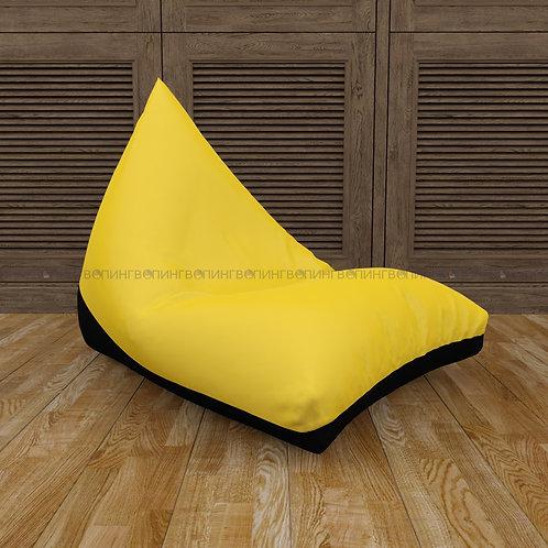 """Кресло-мешок Пирамида оксфорд """"Жёлтый-чёрный"""""""
