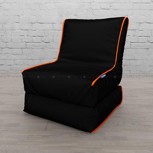 """Авторское кресло """"Le-Jack"""" оксфорд """"Чёрный-оранжевый"""""""