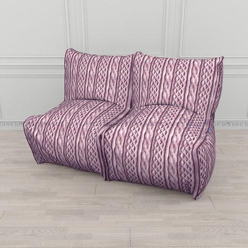 """Модульный диван-трансформер """"DIVAN"""" Микровелюр """"Розовые косы"""""""