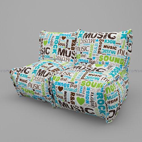 """Модульный диван-трансформер """"DIVAN"""" скотчгард """"Music"""""""