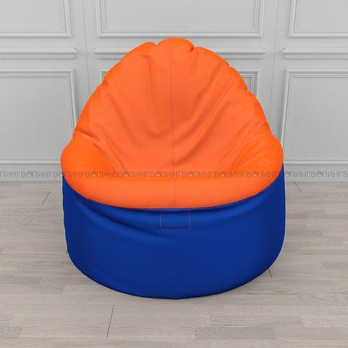 """Кресло-мешок Фирменное Тупокайф оксфорд """"Сине-оранжевый"""""""