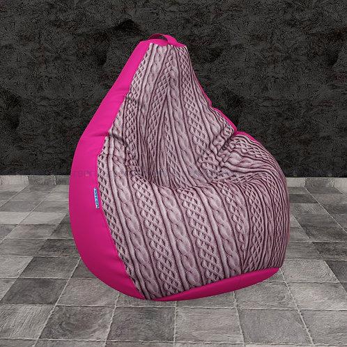 """Кресло-мешок Груша mix оксфорд-велюр """"Косы розовые"""""""