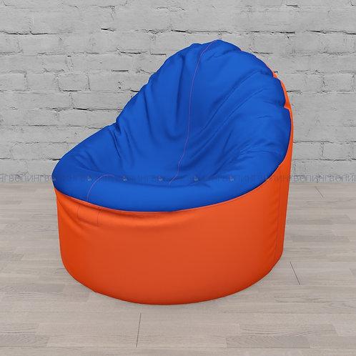 """Кресло-мешок Фирменное Тупокайф оксфорд """"Оранжевый-синий"""""""