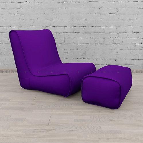 """Авторское кресло """"Tapchan"""" оксфорд """"Фиолетовый"""""""