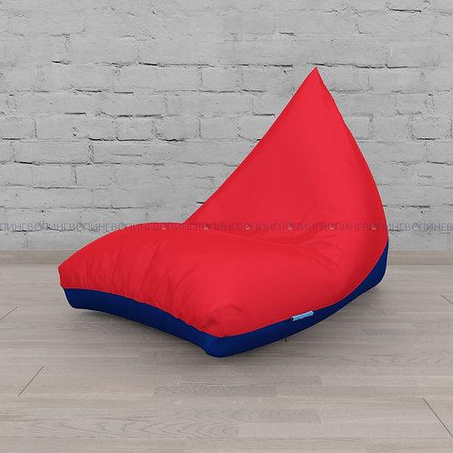 """Кресло-мешок Пирамида оксфорд """"Красный-синий"""""""