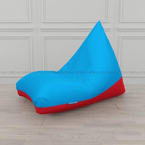 """Кресло-мешок Пирамида оксфорд """"Голубой-красный"""""""