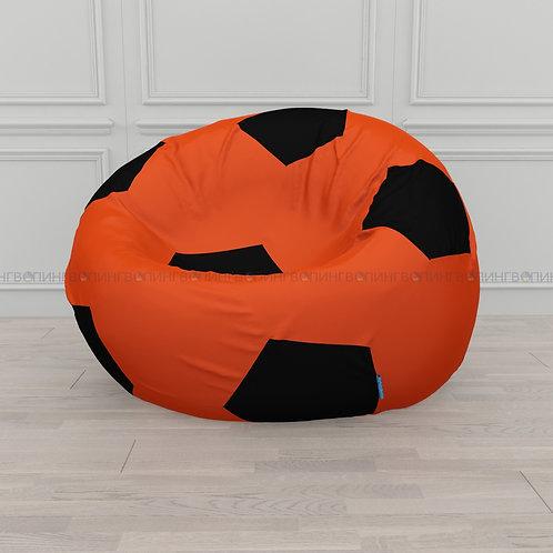 """Кресло-мешок """"Футбэг"""" оксфорд """"Оранжевый-чёрный"""""""