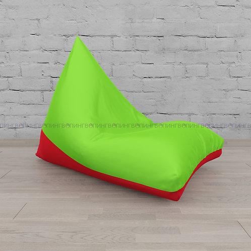 """Кресло-мешок Пирамида оксфорд """"Салатовый-красный"""""""