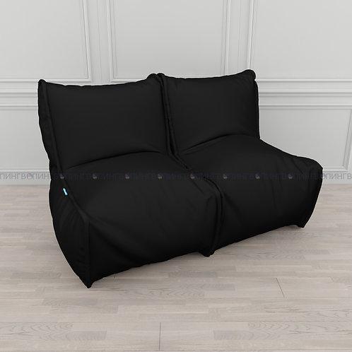 """Модульный диван-трансформер """"DIVAN"""" Оксфорд """"Чёрный"""""""