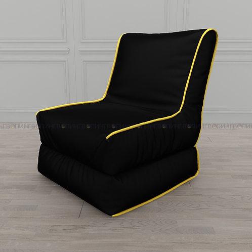 """Авторское кресло """"Le-Jack"""" оксфорд """"Чёрный-жёлтый"""""""