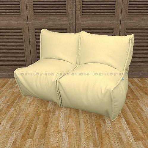 """Модульный диван-трансформер """"DIVAN"""" Жаккард  """"Cream"""""""