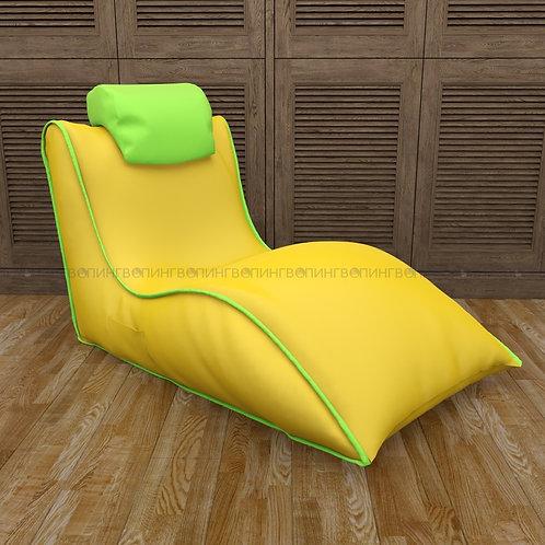 """Авторское кресло """"Balid"""" оксфорд """"Жёлтый-салатовый"""""""