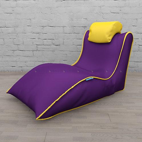 """Авторское кресло """"Balid"""" оксфорд """"Фиолетовый-жёлтый"""""""
