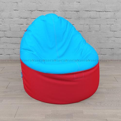 """Кресло-мешок Фирменное Тупокайф оксфорд """"Красно-голубой"""""""