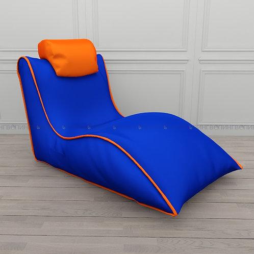 """Авторское кресло """"Balid"""" оксфорд """"Синий-оранжевый"""""""