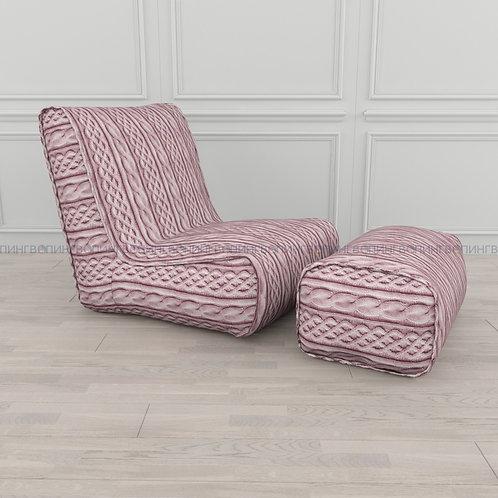 """Авторское кресло """"Tapchan"""" микровелюр """"Розовые косы"""""""